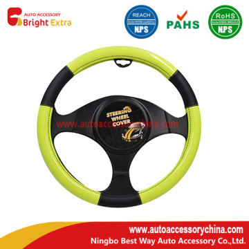 Black and yellow steering wheel cover new design