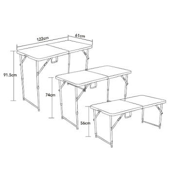 Furniture 4-Foot Kid's Plastic Folding Table