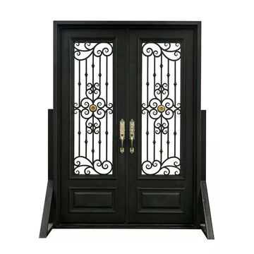 Hot Sale Security Wrought Iron Exterior Door