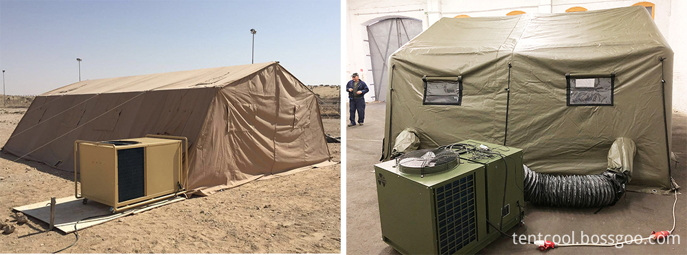 Tent air conditioner cooling