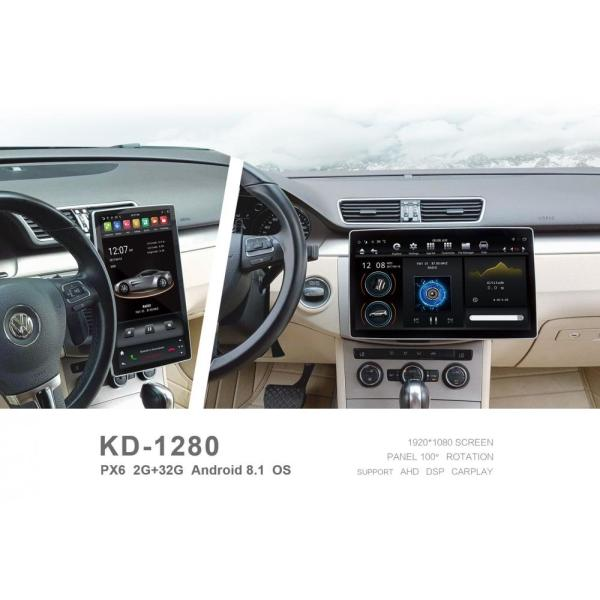 KD-1280 Tesla Style Universal Android 8.1 Car Stereo