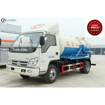 New Cheap FOTON 4000litres toilet vacuum truck