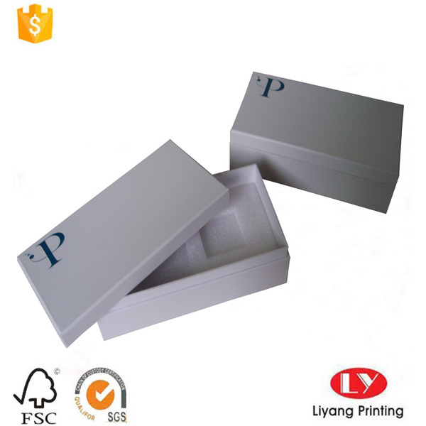 phone cardboard packaging box with foam insert