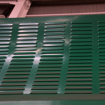 Powder Coating PC boardSound BarrierLouvres Mute Wall