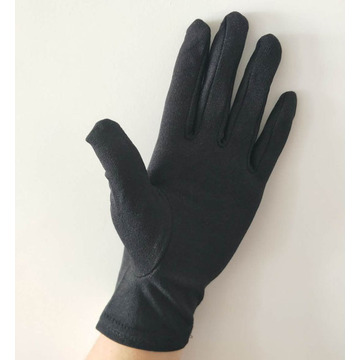 Military Parade Black Nylon Gloves
