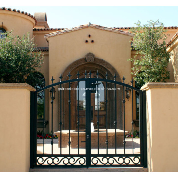Front Entry Wrought Iron Gates Design for Priviate House
