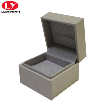 custom crystal grey engagement mini ring box