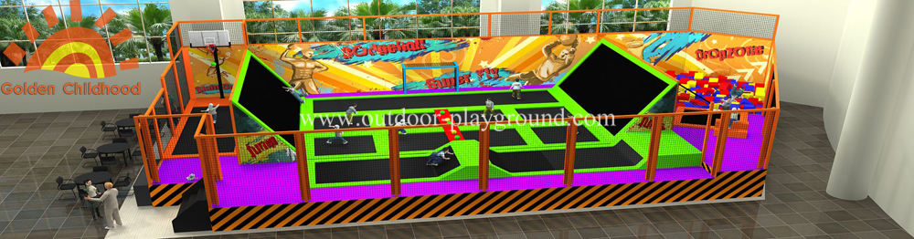 Special Custom Trampoline Football Playground
