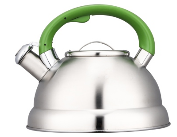 KHK014 2.5L whistling Teakettle with color painting nylon handles