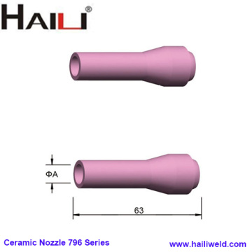 Short TIG Ceramic Nozzle 796 Series