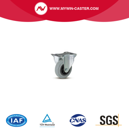 European type industrial rubber caster