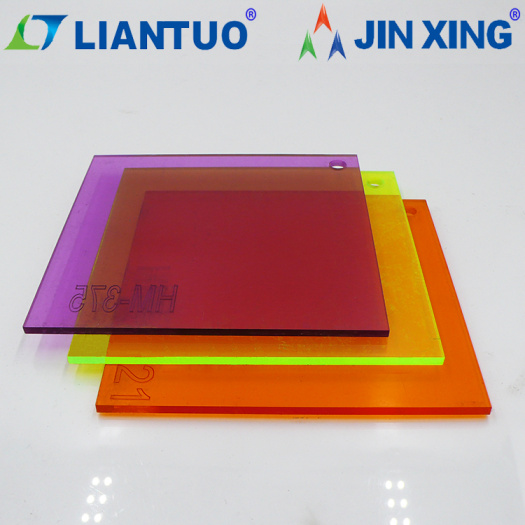 coloured transparent acrylic sheet