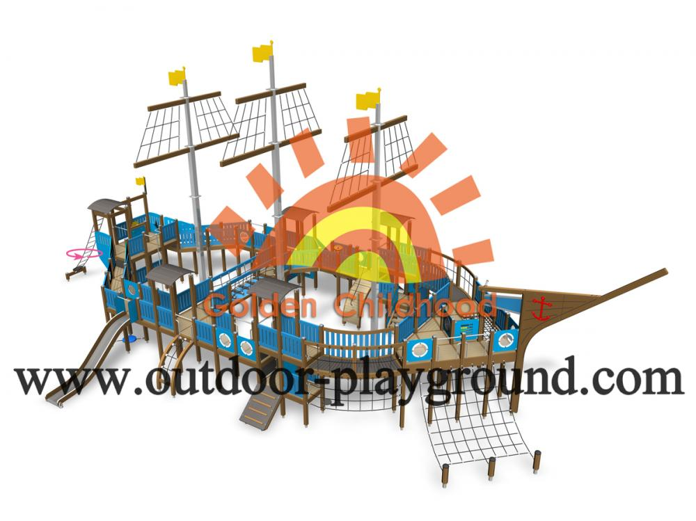 Outdoor Climbing Play Structure For Kids