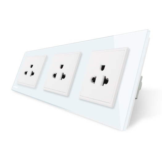Plastic Wall Power Socket White colour injection mould