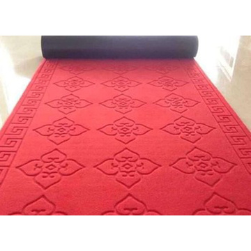 Polyester nonwoven surface  embossed door mat