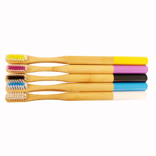 Quality Activated Charcoal Bamboo Toothbrush Round