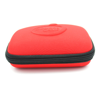 Hot selling cover makeup mesh pockets eva cosmetic case with logo