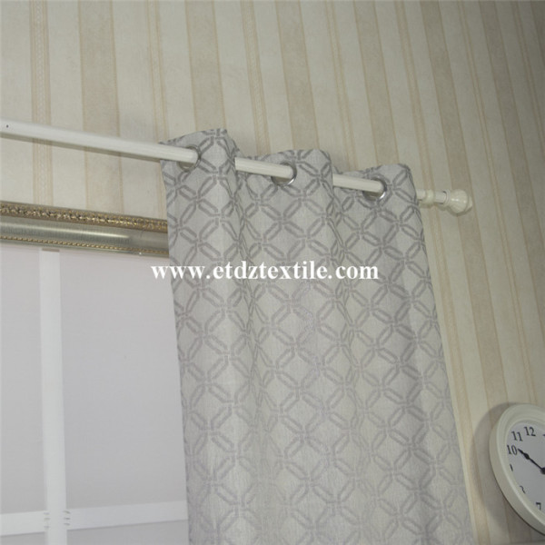 Squar Cross Polyester Jacquard Curtain