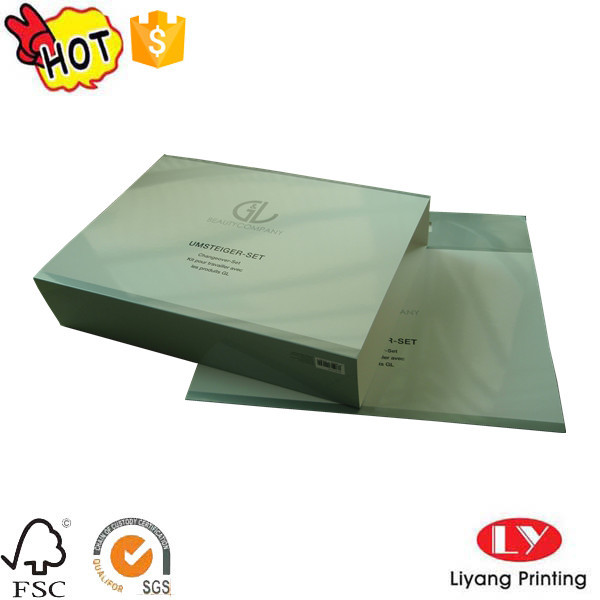 Cheap cosmetic packaging box with logo