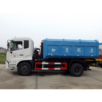 Luxurious 4X2 DONGFENG 12cbm hook rubbish truck