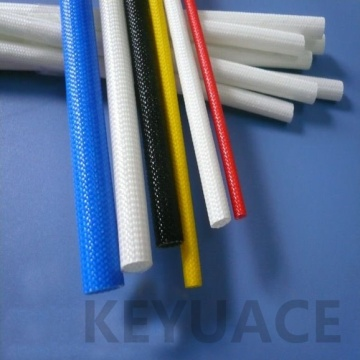 600v Silicone Rubber Coated Braided Fiberglass Sleeve