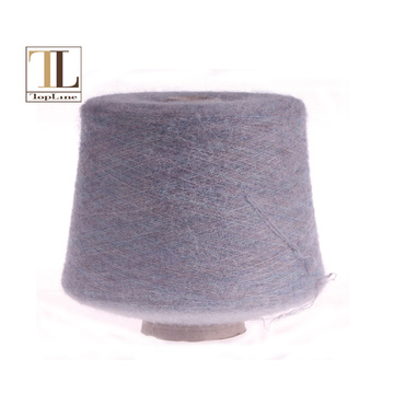 Supersoft alpaca merino wool brush yarn with elasticity