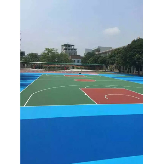 Safety And Environmentally Silicon PU Elastic layer QT Courts Sports Surface Flooring Athletic Running Track