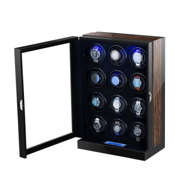 Automatic Multi-rotors Wooden Watch Winder