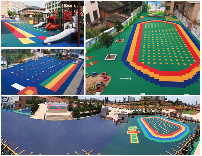 Kids playground court Tiles