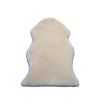 Baby sleeping soft sheepskin rug