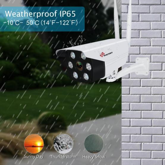 1080P Floodlight Security Camera Wireless