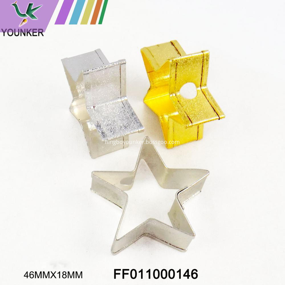 Star Different Color Metal Ornament