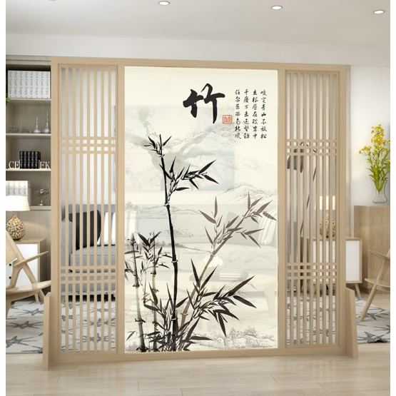 Bamboo screen in living room