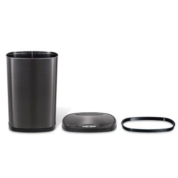 Cool Volcano Carbon Black Large-Capacity Sensor Trash Can