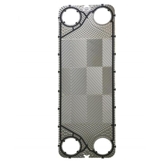 Steel heat exchanger plate