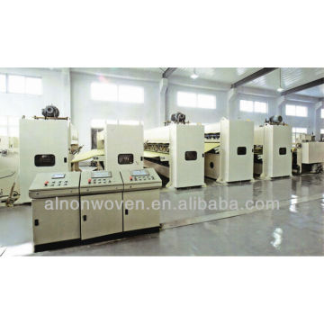 Middle/high speed needle punching production line