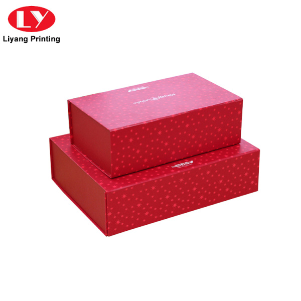 Magnetic Book Shaped Christmas Cardboard Paper Gift Box