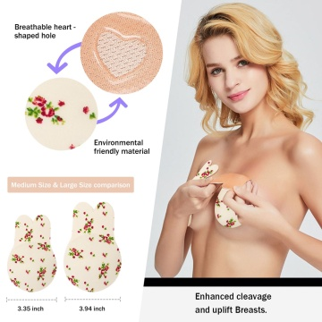 BLURBE Silicone Breast Lift Cover Bra Flower