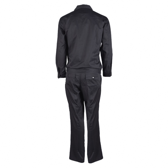 Black Nomex Work Suit with Snaps Pockets