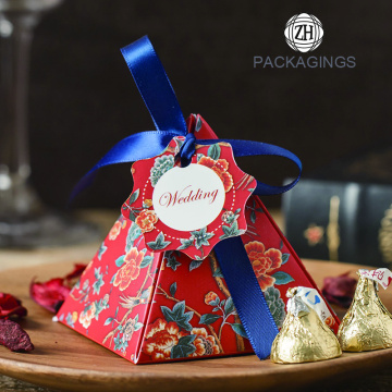 Pyramid wedding favor candy box wholesale