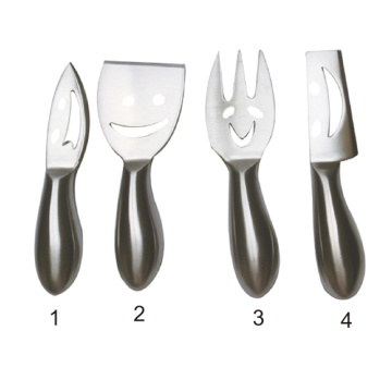 Stainless Steel Smiling Faces Cheese Knife Set