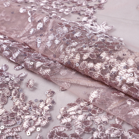 MX427 embroidery sequin lace