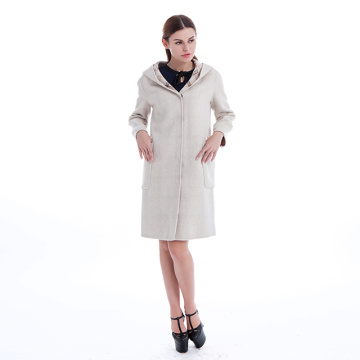 Plaid long double-sided woolen coat