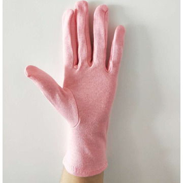 Cotton Pink Ladies Gloves