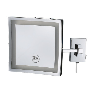 Wall-mounted Folding Round Makeup Mirror For Bathroom