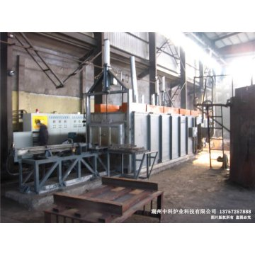 Residual heat isothermal normalizing production line