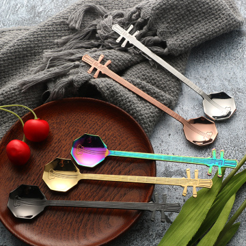 Colorful Music Style Restaurant Stainless Mini Spoon
