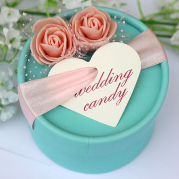 Round wedding candy display gift box