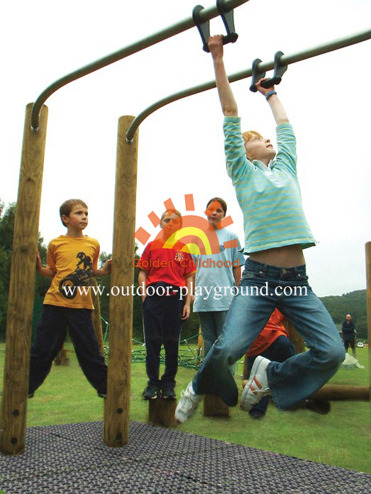 Parallel Bars Balance On Park For Kids