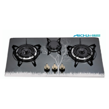3 Burners Built In Stainless Steel Gas Hob